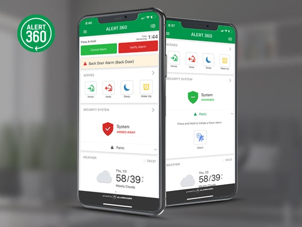 Alert 360 Smart Signal Verify options for home security and business customers.and Smart